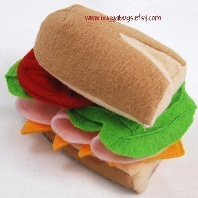 PERFECT PICNIC PDF Felt Food Pattern Basket Hoagie by BuggaBugs, $6.00