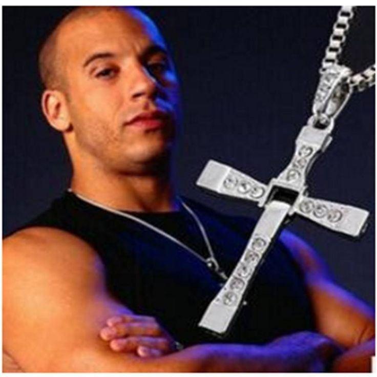 Steampunk Fast & Furious Men's Cross Necklace
