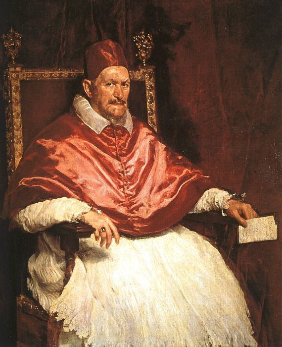 This is a painting Velazquez did of Pope Innocent X on his second visit to Italy.