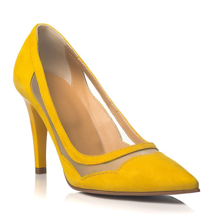 DARE TO WEAR >> Pantofi stiletto Soft Yellow