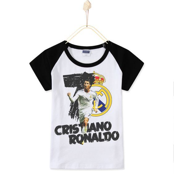 2017 New Casual Children T-shirts Cristiano Ronaldo Football CR7 Top Cotton Boys T Shirt Kids Baby Clothes Unisex Free Shipping