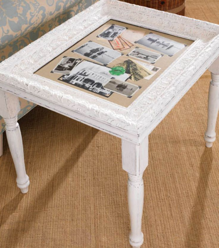 Photo frame accent table :) #DIY #summer #upcycle