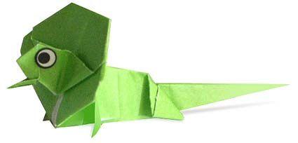 Origami Frilled Lizard