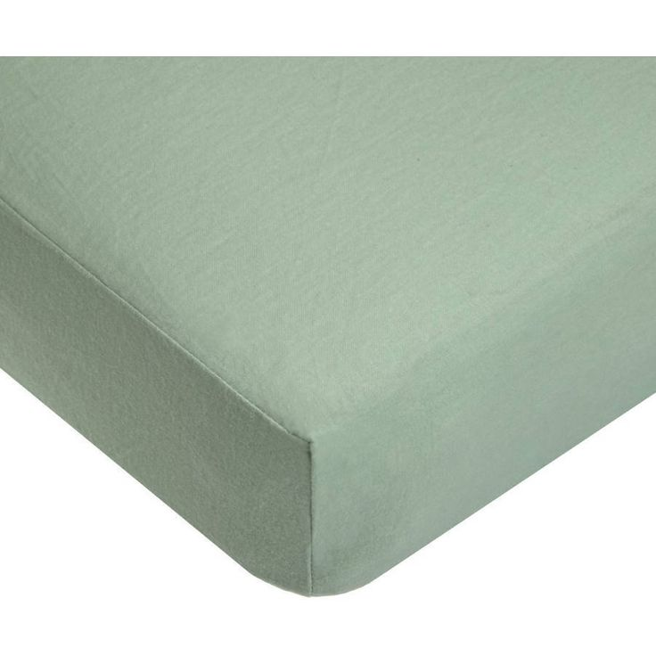 Flannel Crib Sheet Cotton Soft Warm Infant Toddler Bed Mattress Cover Celery #FlannelCribSheets