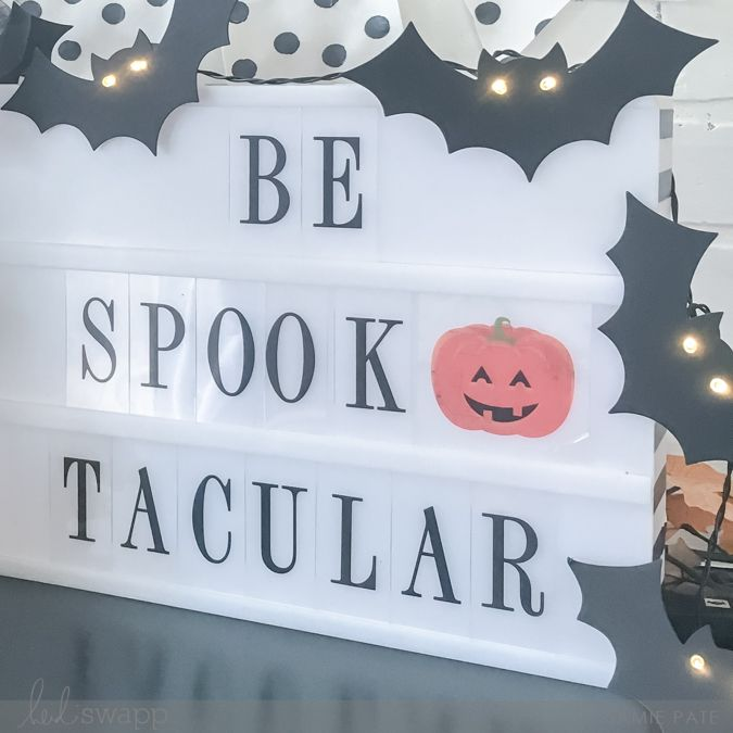 Heidi Swapp Halloween Marquee Love Party by Jamie Pate | @jamiepate for @heidiswapp