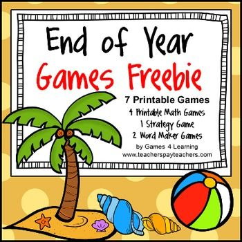 End of Year Games {Freebie}