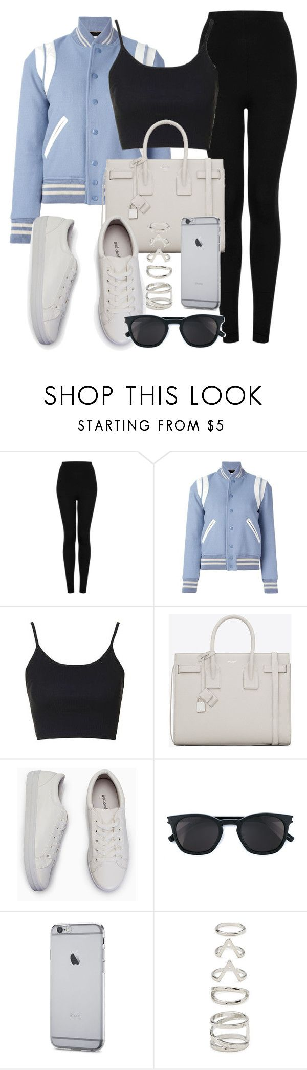 """Untitled #12312"" by vany-alvarado ❤ liked on Polyvore featuring Topshop, Yves Saint Laurent and Forever 21"