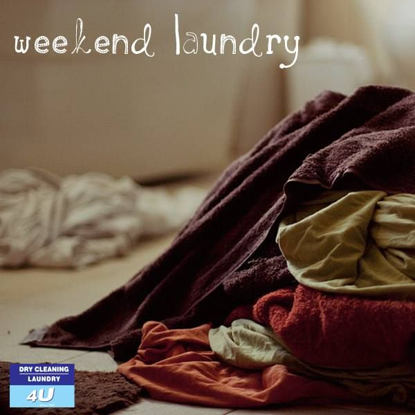 No one should be doing laundry over a weekend. Let us take the load off your shoulders. http://drycleaning4u.co.za