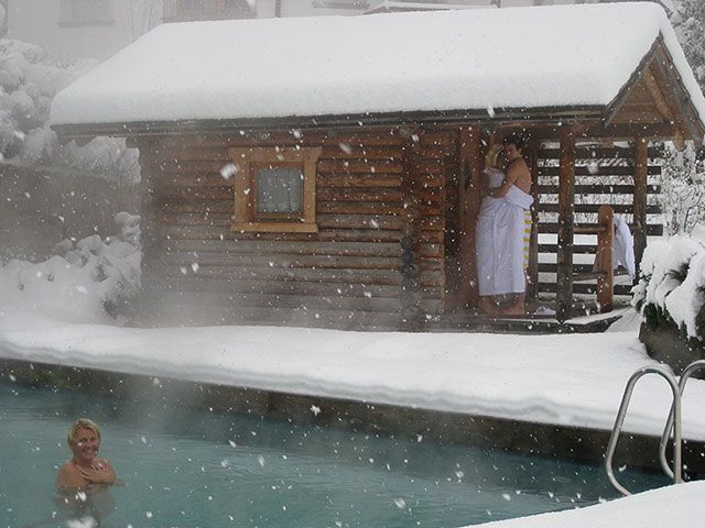 Hot sauna and a dip into ice cold water #Finland --  best beauty product ever :D