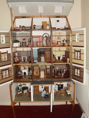 Unique vintage style handmade dolls house - 15 rooms - fully furnished | eBay