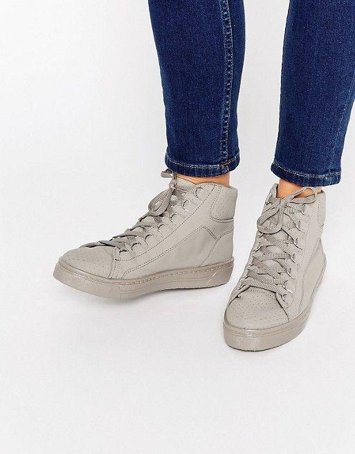 Chaussures De Sport Jeans Mustang Haute Coursier MIuik818Y