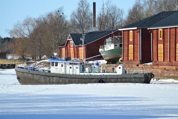 Talviteloilla, stored for the winter @Visit Vaasa