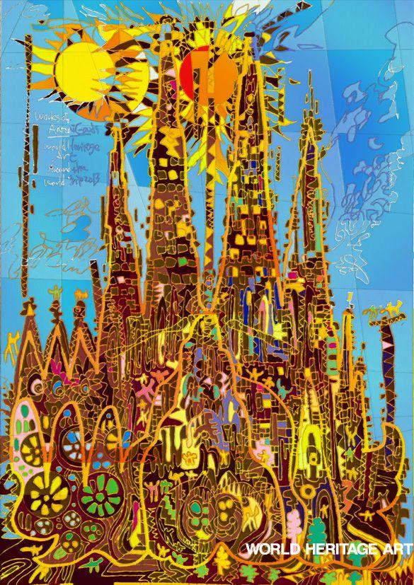 #0001-1-R #Temple Expiatori de la #SagradaFamília Works of #AntoniGaudi #Spain #WorldHeritage #Art #KoichiMatsuda