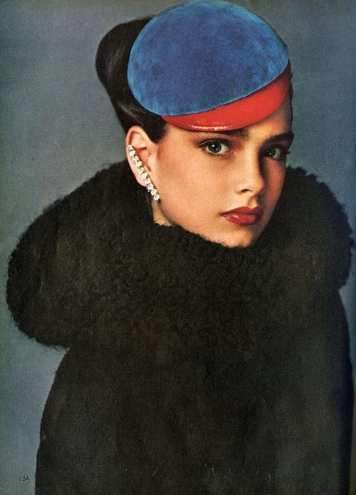 1978: A 13-year-old Brooke Shields, photographed for Vogue by Richard Avedon