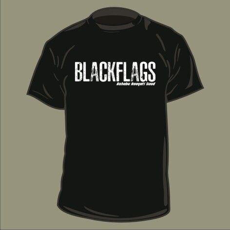 #design #tshirt #blackflags #screenprinting #waterbased pre order