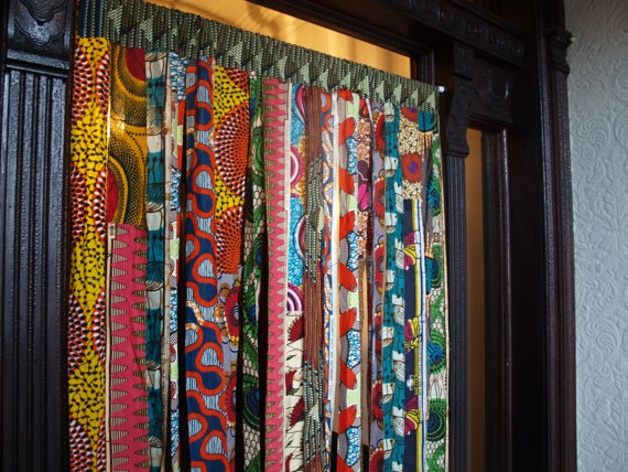 Batik Wax Print Window Curtains By Osxn On Etsy 125 00