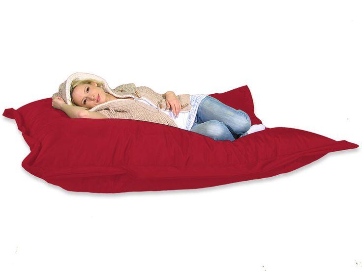 Sitzsack XXL 180 x 140 cm Sitzkissen Rot, Riesen Sitzsack, fest & Stabil
