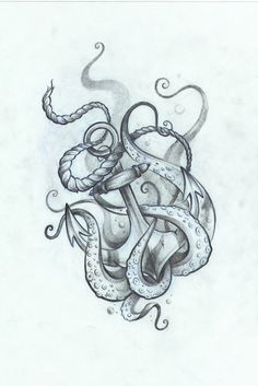 Anchor tattoo with octopus by Ng on Behance