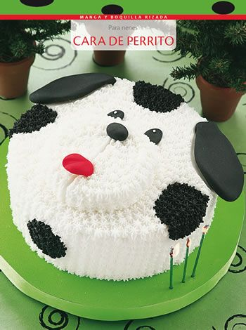 Torta cara de perrito - Glasé real - Tortas decoradas