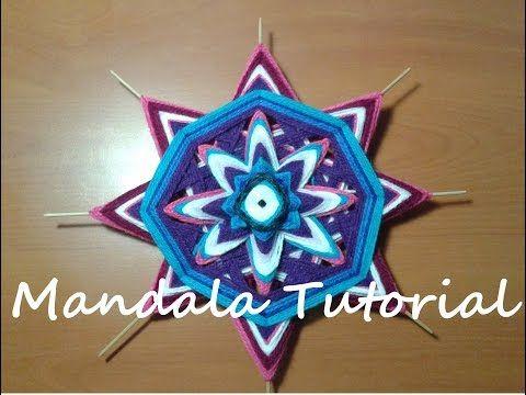 Mandala de Lana - Tutorial P1 - YouTube  Todos los domingos un nuevo video!  Mandala ojo de dios diy tutorial