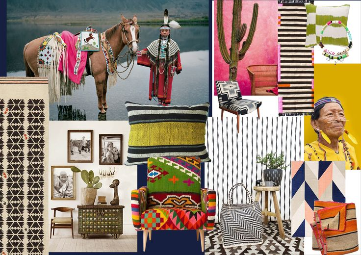 Moodboard created by Pierre Frey Creative Studio for Arapahos and Grand Canyon 2018 collections
