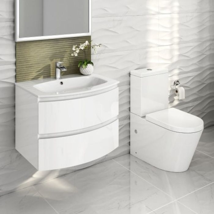Amelie Curved Wall Hung Vanity Unit Lyon Toilet Set Gloss White Wall Hung Vanity Vanity Units Vanity