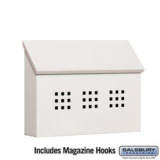 Traditional Mailbox - Decorative - Horizontal Style - White