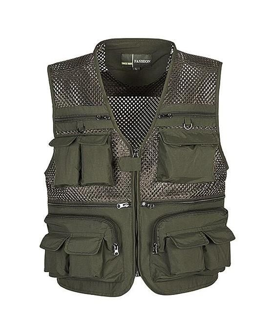 2016 Summer New Brand Outdoors Travels esporte Vest Tops Mesh Men Vest Plus Size L-4XL Photographer Vests Multi Pockets Jacket
