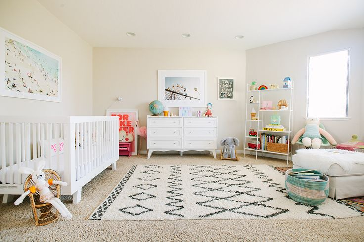 I could totally put both Babies (our Irish Twins) in this Nursery. Our upstairs nursery is Big enough for four Kids. LOL