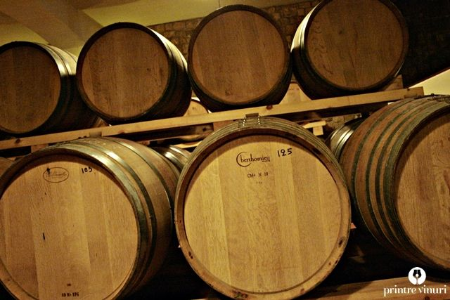 French barriques at Stelios Kechris Domaine, Greece.
