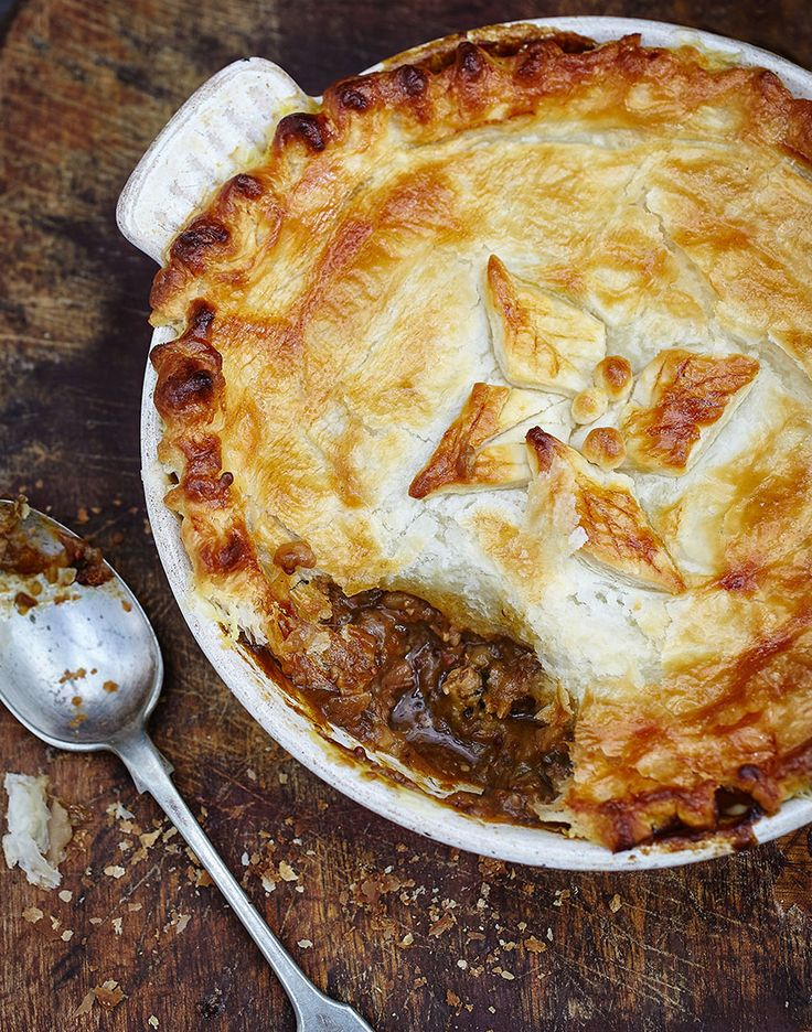 Beef, Guinness and Smoked Oyster Pie, succulent tender beef encased a deeply rich salty sauce.