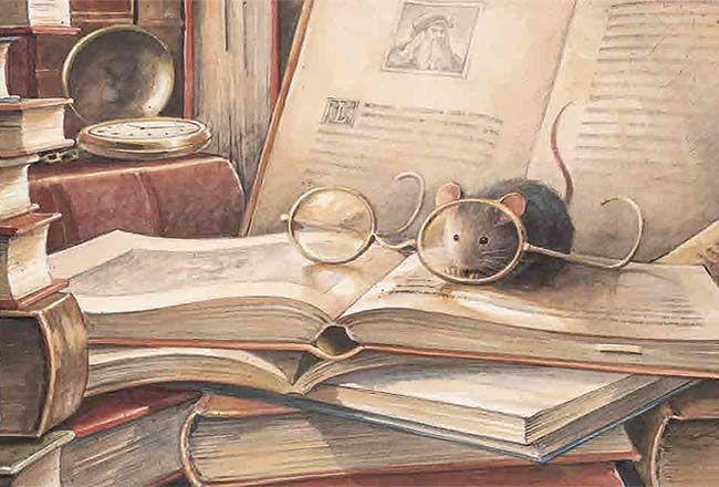Ratón de biblioteca (ilustración de Torben Kuhlmann)