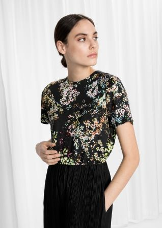 & Other Stories image 1 of Loose Top  in Neon Petals Print