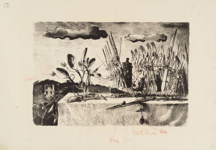 Edward Ardizzone 'The Last Stand of the Spoons', 1959 © The estate of Edward Ardizzone