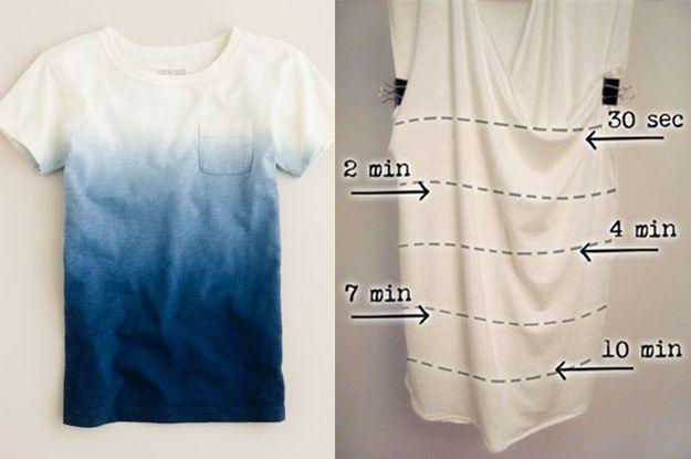 Compre uma camiseta branca e a transforme você mesmo em ombré com passos simples. | 28 ideias de presentes de emergência para o Dia dos Namorados