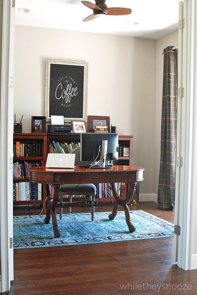 While They Snoozeu0027s Office With Rugs USAu0027s Beaumont VI16A Distressed Adileh  ...
