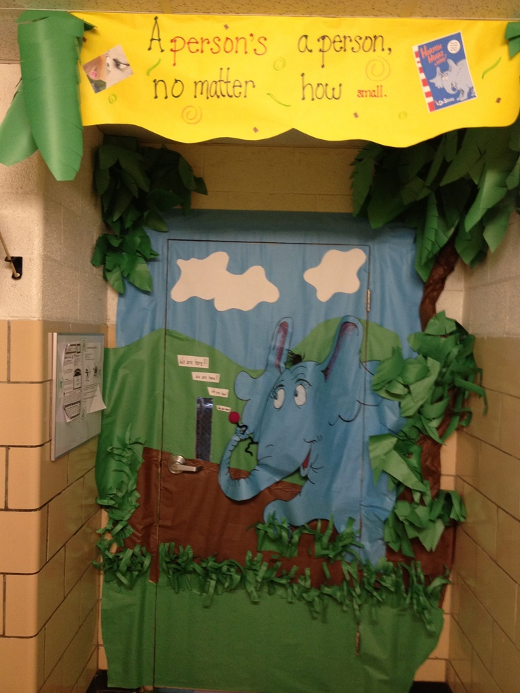 Classroom Decoration Ideas Quote ~ Horton hears a who classroom door decor dr seuss class