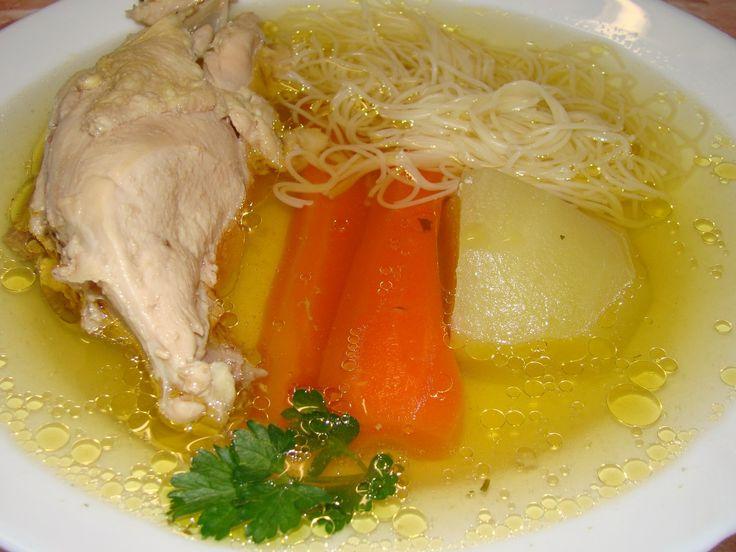 Házi tyúkhúsleves recept: Szerintem ahány ház annyi szokás a leves készítése.