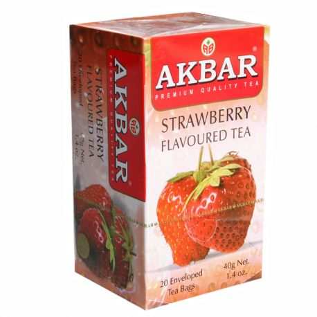 Té negro Akbar con sabor a frutilla