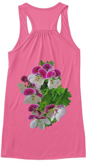 Orchid Flower Neon Pink T-Shirt Back