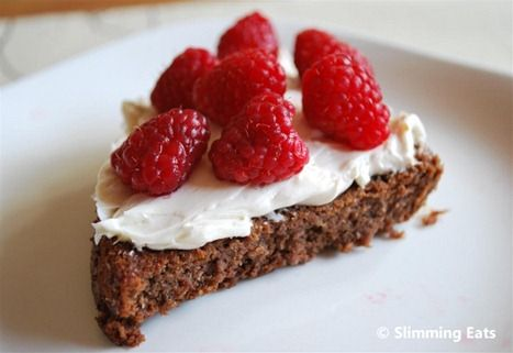Chocolate Scan Bran Cake with Vanilla Cream and Fresh Raspberries | Slimming Eats - Slimming World Recipes