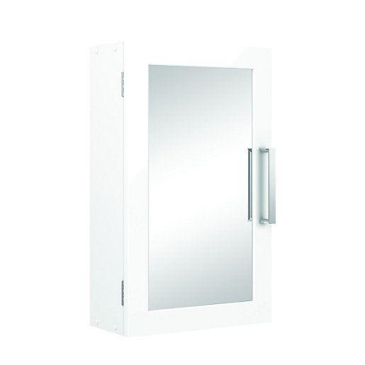 Wickes Bathroom Single Mirror Cabinet White 300mm | Wickes.co.uk