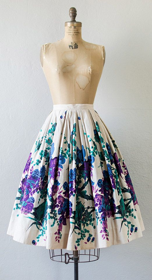 vintage 1950s skirt | PFAUENINSEL PARK skirt c.1950s