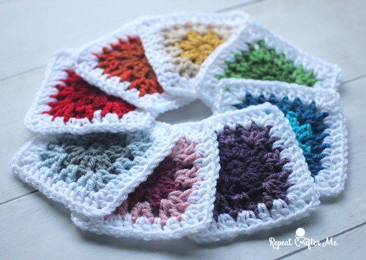 157 best Granny Squares & Blocks images on Pinterest | Stricken ...