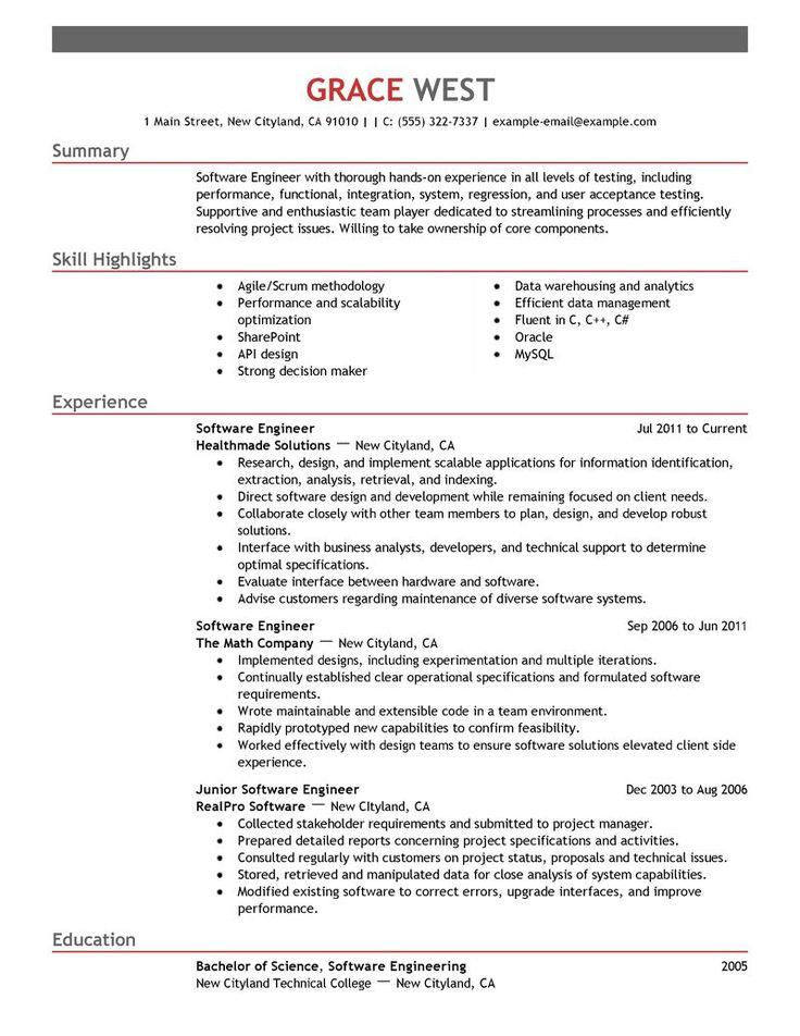 Top Resume Examples - Resume Sample