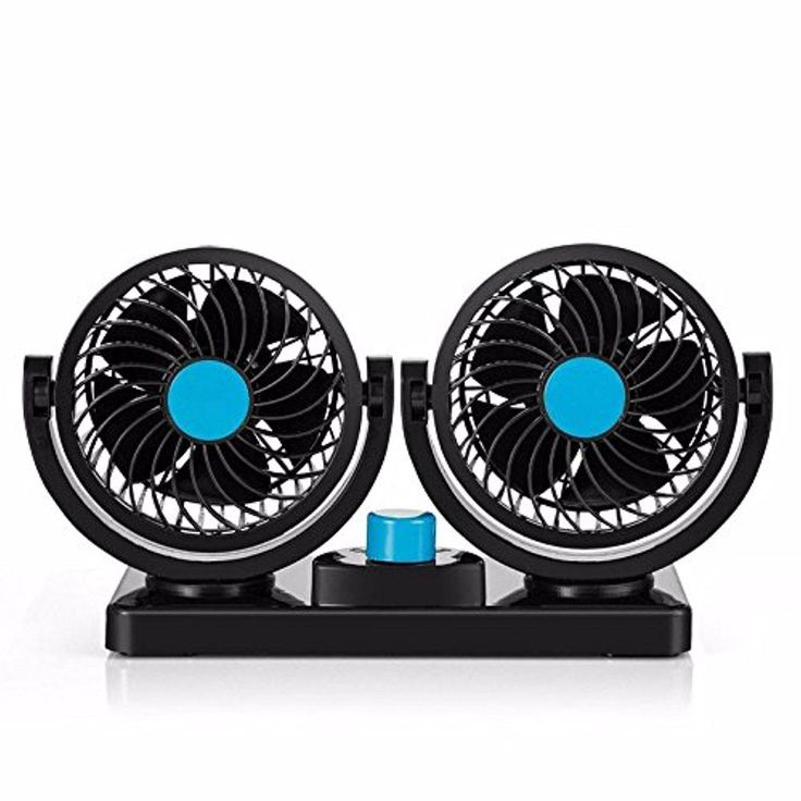digitharbor® 24V Dual Head Truck Fan 360 Degree Rotation Powerful Quiet 2 Speed Adjustable Strong Wind Auto Cooling Air Fan for Truck with Kids Safe Design - Brought to you by Avarsha.com