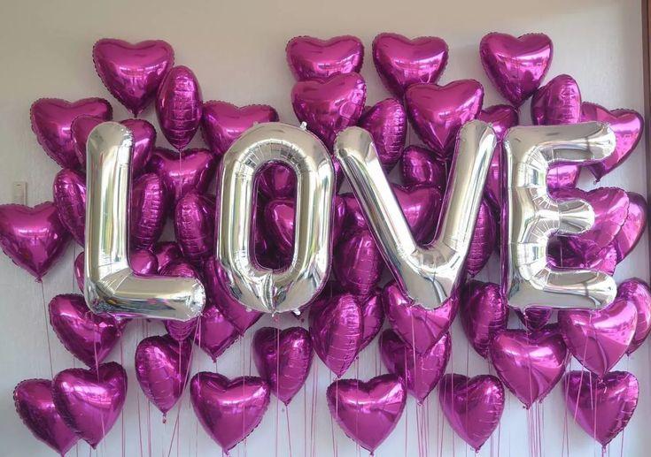 globos de letras de 85 cm