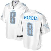 Men's Tennessee Titans Marcus Mariota Pro Line White Out Fashion Jersey