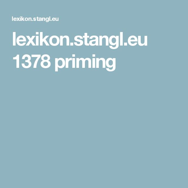 lexikon.stangl.eu 1378 priming