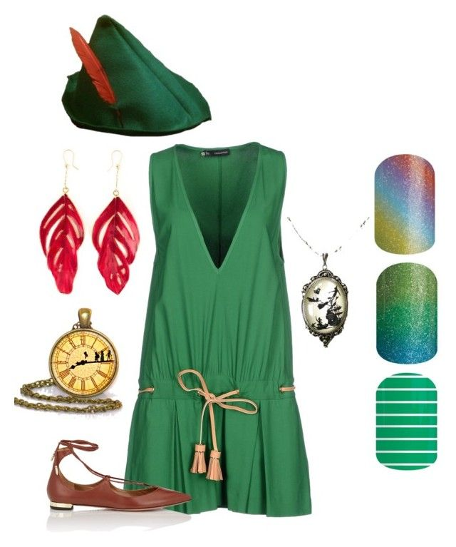 """Peter Pan Jamberry Disney Game"" by shanna-silberman-smith on Polyvore featuring Dsquared2, Aquazzura and Aurélie Bidermann"